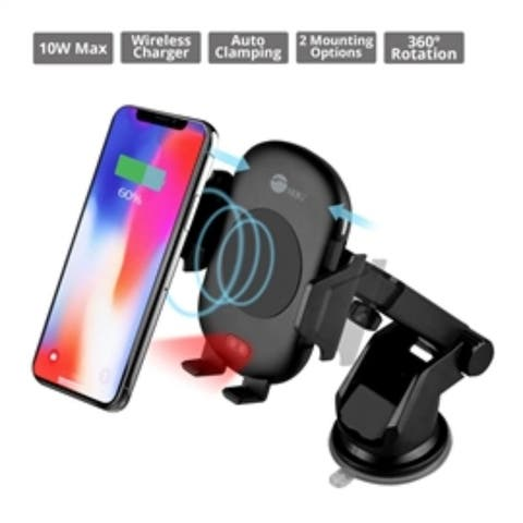 SIIG Accessory AC-PW1M11-S1 Auto-Clamping Wireless Car Charger Mount/Stand Brown Box