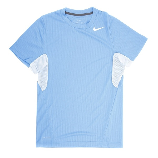 0ec9871d2f23 Shop Nike Men s Vapor Blue White Dri-FIT Tee Shirt - Large - Free Shipping  On Orders Over  45 - Overstock - 21293761