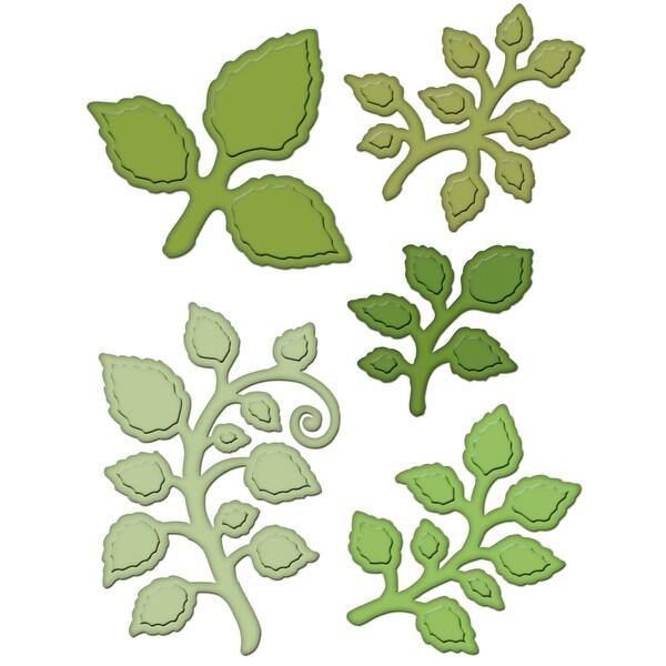 "Heartfelt Creations Cut & Emboss Dies-Classic Leaf, 2"" To 2.5"""