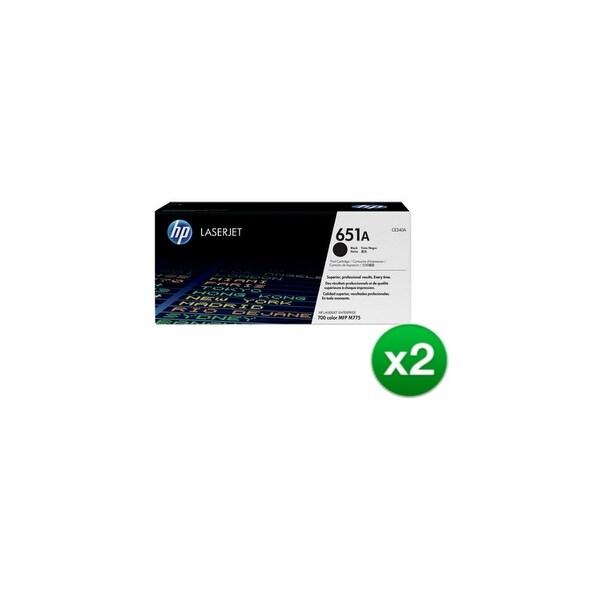 HP 651A Black Contract LaserJet Toner Cartridge (CE340A)(2-Pack)