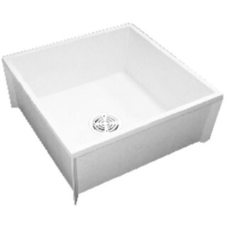 """Proflo PFMB2424S 24"""" X 24"""" Floor Mounted Mop Service Sink with Integral Drain"""
