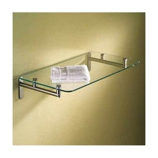 """Ginger 0240-24 24"""" Tempered Glass Hotel Shelf from the Sine Collection"""