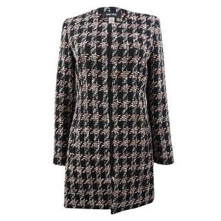 Nine West Women's Tweed Topper Jacket - Black Multi