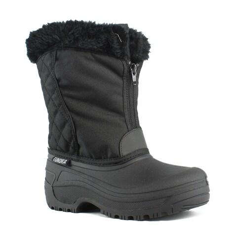 Tundra Womens Portland-W Black Snow Boots Size 5