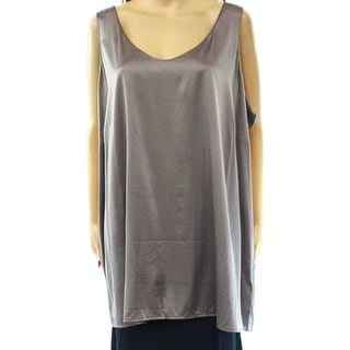 Eileen Fisher NEW Gray Women's Size 3X Plus Tank Cami Silk Top