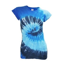 Juniors Tie Dye T-Shirt Crew Neck Women's Tee