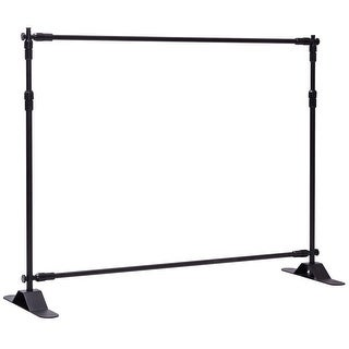 Gymax 8'x8' Banner Stand Adjustable Telescopic Backdrop Display Trade Show Booth Wall