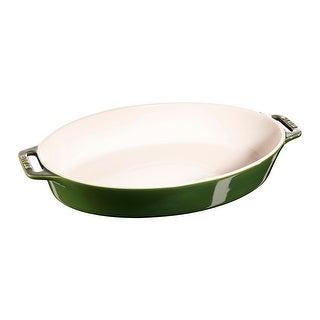 "Staub Ceramic Stoneware 14.5"" Oval Baking Dish - Basil"