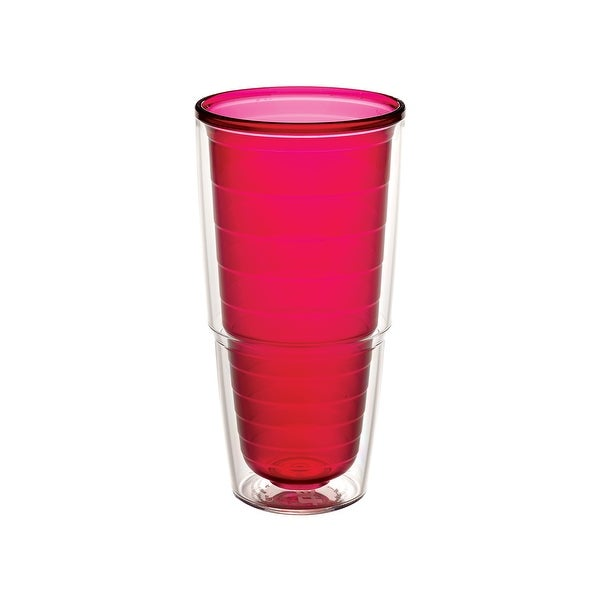 Clear & Colorful Ruby 24 oz Tumbler