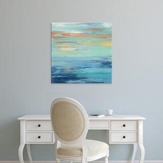 Easy Art Prints Silvia Vassileva's 'Sunset Beach I' Premium Canvas Art