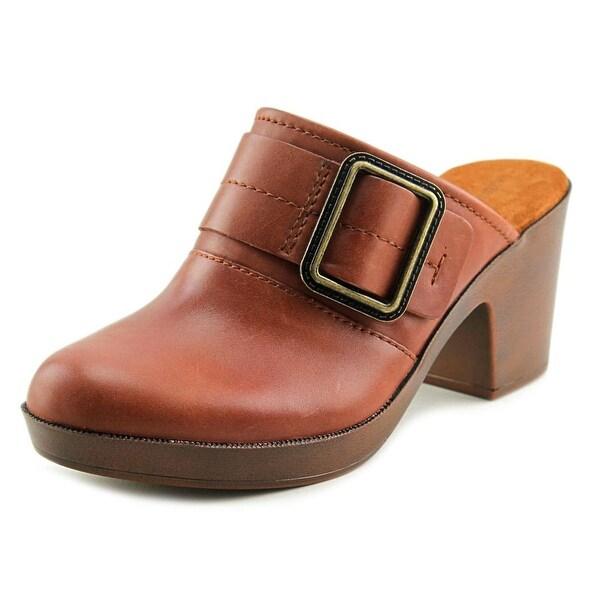 Easy Spirit Harvina Women Round Toe Leather Mules
