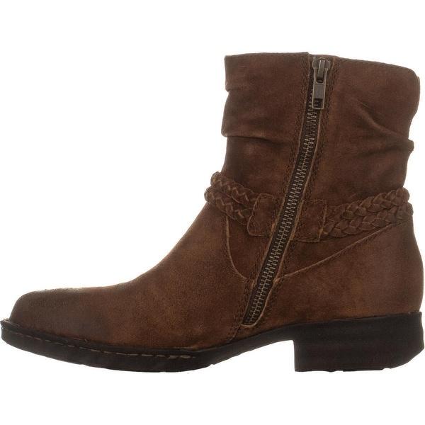 Born Ouvea Braid Ankle Boots, Rust