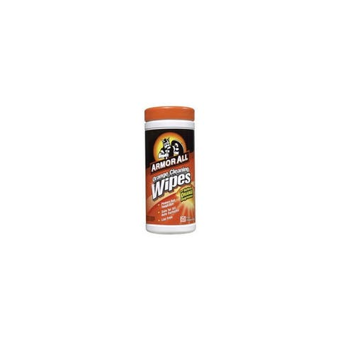 Armorall r 10831 orange cleaning canister wipes - 25-pack