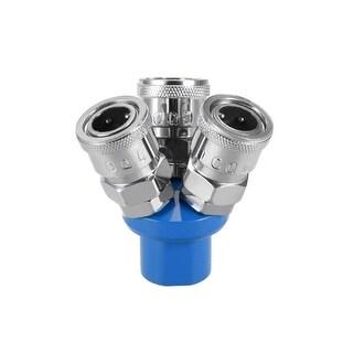 """1/4"""" G Thread 3 Way Air Hose Quick Coupler Pass Air Hose Coupling Tool SMY 3Pcs - 3 Ways 1/4"""" G 3pcs"""