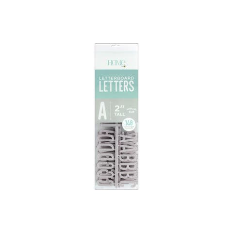 """DieCuts Letterboard Letters 2"""" Grey 148pc"""