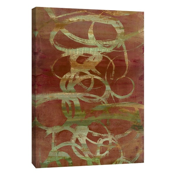 """PTM Images 9-105385 PTM Canvas Collection 10"""" x 8"""" - """"Copper Line 2"""" Giclee Abstract Art Print on Canvas"""