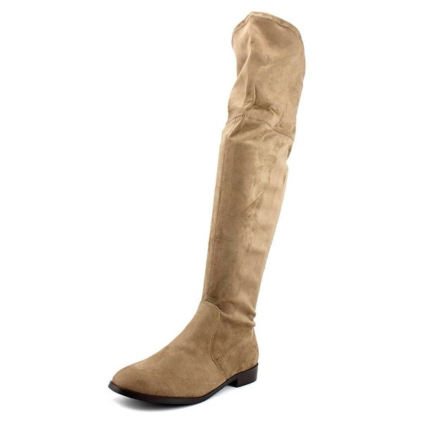 Wanted Pheasant Women Round Toe Synthetic Nude Over the Knee Boot
