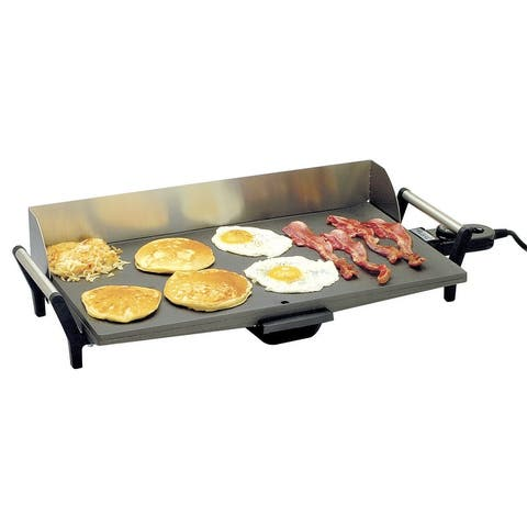 BroilKing PCG-10 Professional NonstickGriddle with Stainless Handles & Backsplash, Gray