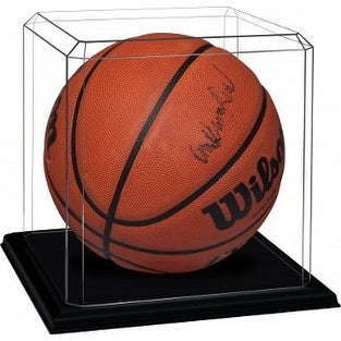 Basketball unsigned Display Case with Black Base