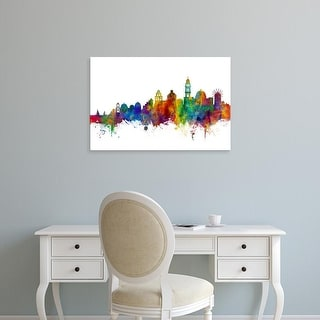 Easy Art Prints Michael Tompsett's 'Santorini Skyline' Premium Canvas Art