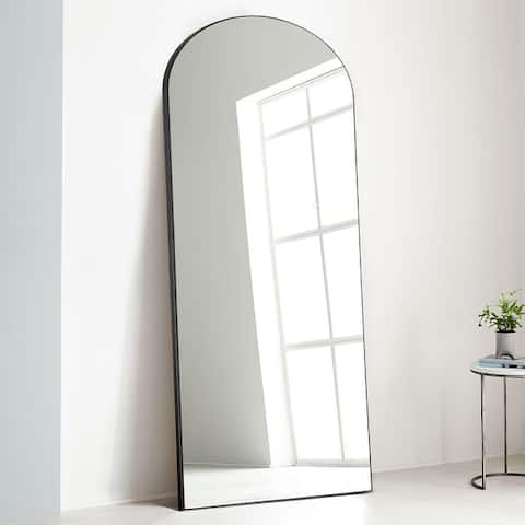 Arched Mirror Full-length Floor Mirror with Standing