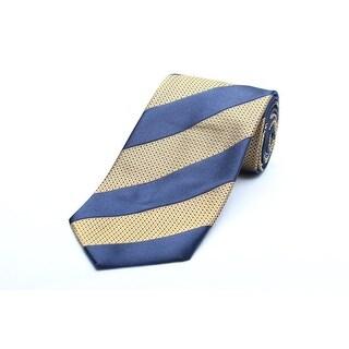 Versace Men's Silk Neck Tie N2040-0528 Yellow gold W/ Blue Stripes