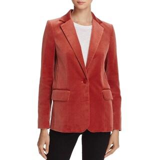 Frame Denim Womens One-Button Blazer Velvet Classic