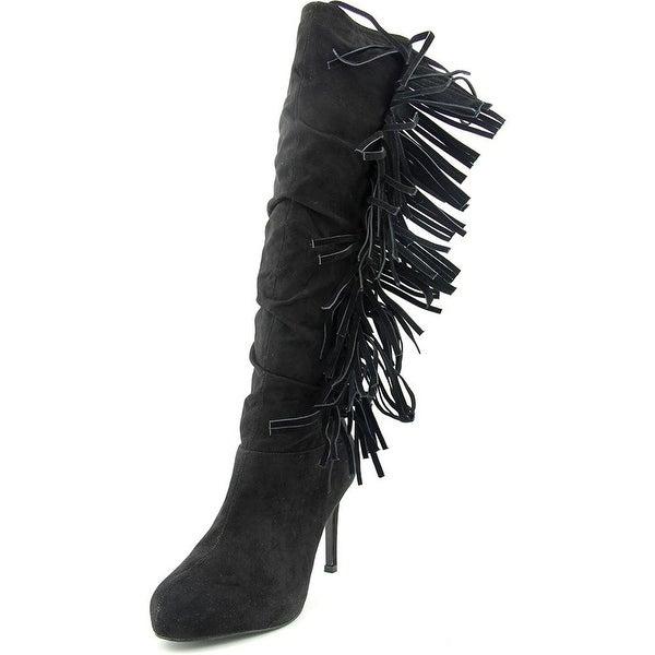 Thalia Sodi Alma Women Round Toe Canvas Knee High Boot
