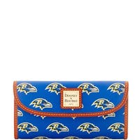Dooney & Bourke NFL Baltimore Ravens Continental Clutch Wallet (Introduced by Dooney & Bourke at $128 in Aug 2016)