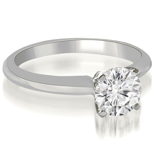 0.50 cttw. 14K White Gold Classic Solitaire 4-Prong Diamond Engagement Ring