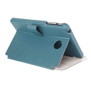 Verizon Vegan Leather Folio Case for Ellipsis 8, Ellipsis Kids - Blue