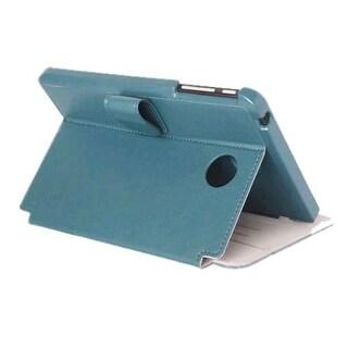 Verizon Vegan Leather Folio Case for Ellipsis 8 - Blue