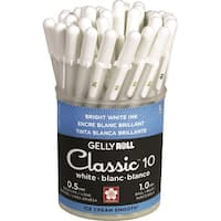 Gelly Roll Classic Bold Point Pens Cup 36/Pkg-White