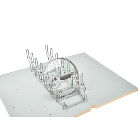 """Chrome Lid Organizer for Drawer Peg Boards - 5.25""""W x 16.88""""D x 5.38""""H"""
