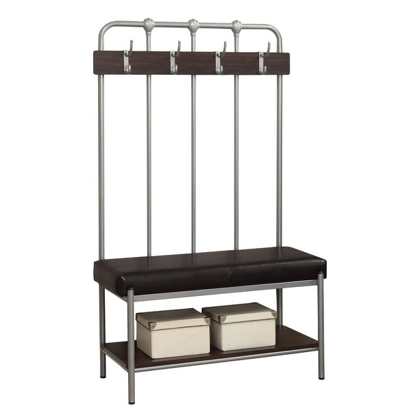 Shop Monarch Specialties I 4546 60 Inch Tall Entry Bench With 4