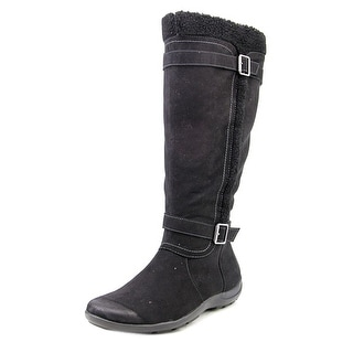 Naturalizer Frost Wide Calf Women Round Toe Suede Black Winter Boot