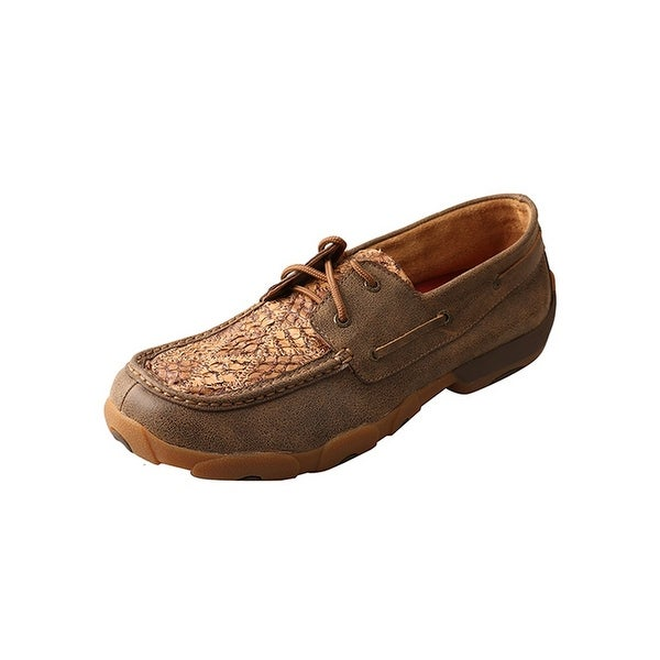 Twisted X Casual Shoes Mens Driving Moc Lace Rubber Bomber