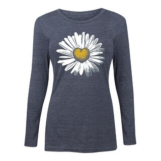 Daisy Heart  - Women's Long Sleeve Tee