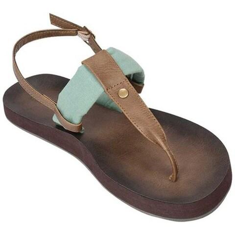 Tidewater Sandals Women's Montauk Thong Sandal Mint