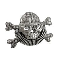 Aviator Skull & Crossbones Belt Buckle Pilot Flying