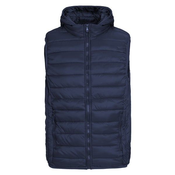 Mens Packable Lightweight Down Vest Outdoor Hooded Puffer Vest