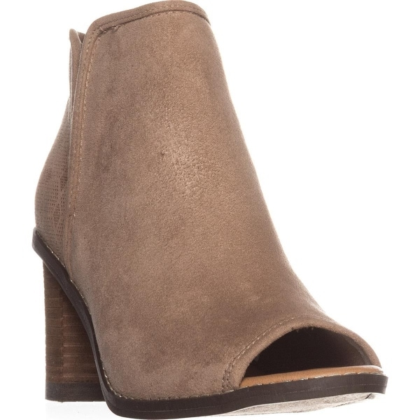 Dr. Scholls Postpone Peep-Toe Ankle Booties, Putty