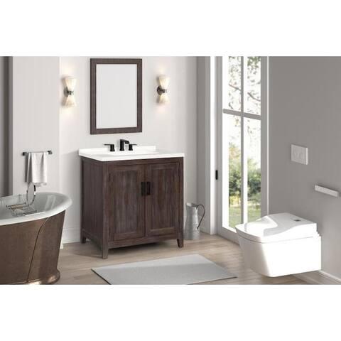"""Claremont 31"""" Distressed Brown Single Bathroom Vanity"""
