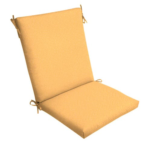Arden Selections Shirt Texture Outdoor Chair Cushion - 44 in L x 20 in W x 3.5 in H