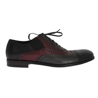 Dolce & Gabbana Dolce & Gabbana Black Gray Leather Wingtip Shoes