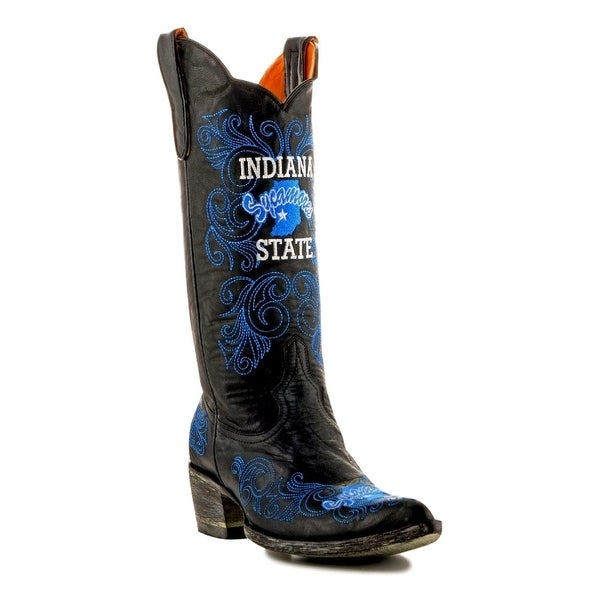 Gameday Boots Womens College Indiana State Sycamores Black