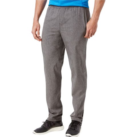 Ideology Mens Tapered Athletic Track Pants, Grey, Small