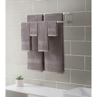 Downtown Collection Ribbed Luxury 6-Piece Towel Set, Grey