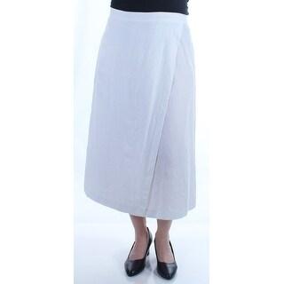 EILEEN FISHER $198 Womens New 1445 White Maxi Tulip Casual Skirt M B+B