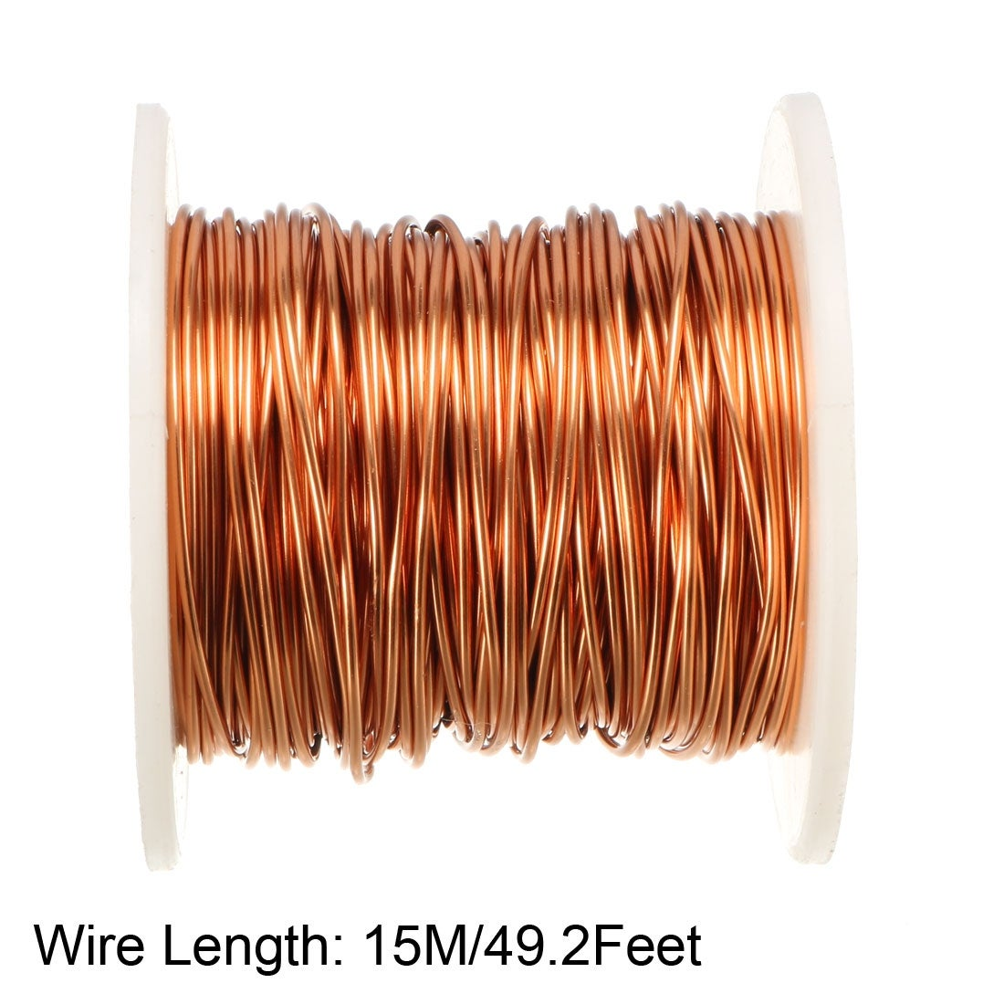 2 oz Magnet Wire 19 AWG Heavy Build Enameled Copper Wire Red 31 Length 0.0386 Diameter
